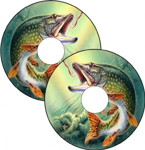 FISHING PIKE Wheelchair Spoke Guard Sticker Skins